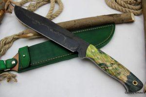 Garbaty Knives drewno stabilizowane Krokodyl