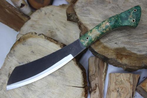 Parang Maczeta Garbaty Knives w drewnie stabilizowanym