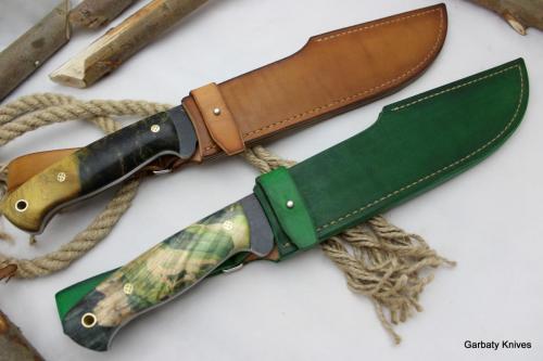 Krokodyl Garbaty Knives drewno stabilizowane